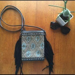Crossbody Fringe & Studded purse